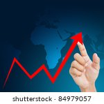 hand graph - stock photo