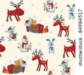 christmas seamless background | Shutterstock .eps vector #84984517