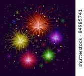 various cartoon celebratory...   Shutterstock . vector #84985741