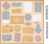 different paper objects for... | Shutterstock .eps vector #84985876