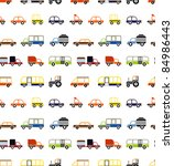 vector seamless cars   isolated ... | Shutterstock .eps vector #84986443
