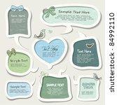 speech bubbles set | Shutterstock .eps vector #84992110