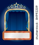 vector stage with five stars...   Shutterstock .eps vector #84992209