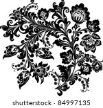 illustration with black on... | Shutterstock . vector #84997135