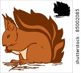 Raster   Funny Red Squirrel...