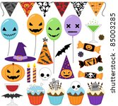 Set Of Vector Halloween Party...
