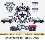 police elements   vector | Shutterstock .eps vector #85006909