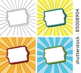 doodle frame with sunbeam... | Shutterstock .eps vector #85008904