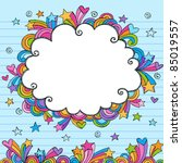 cloud rainbow colored frame... | Shutterstock .eps vector #85019557