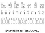 glass and bottle set isolated... | Shutterstock .eps vector #85020967