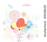 flower card | Shutterstock .eps vector #85028620