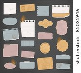 different paper objects for... | Shutterstock .eps vector #85035946