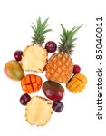 exotic fruit food   a lot of... | Shutterstock . vector #85040011