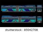 city bus  vector | Shutterstock .eps vector #85042708