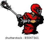 lacrosse player cradling ball... | Shutterstock .eps vector #85047361
