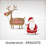 Santa Claus With Christmas Deer....