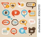 hand drawn speech bubbles... | Shutterstock .eps vector #85062955