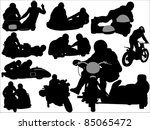 Silhouettes Of Sidecars And...