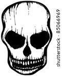 white skull hand drawn | Shutterstock .eps vector #85066969