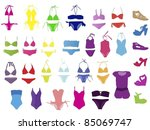 swimsuit vector | Shutterstock .eps vector #85069747