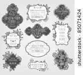 invitation cards with a floral... | Shutterstock .eps vector #85071424