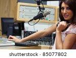 radio host setting the sound... | Shutterstock . vector #85077802