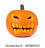 Halloween Pumpkin Isolated On...