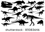 different dinosaur silhouettes... | Shutterstock .eps vector #85083646