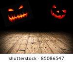 Halloween Evil Pumpkin Faces In ...
