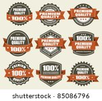 premium quality labels | Shutterstock .eps vector #85086796