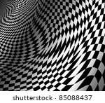 Abstract Wavy Chess Background