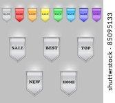 set of color bookmarks | Shutterstock .eps vector #85095133