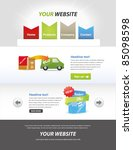 editable web template   panixxo ... | Shutterstock .eps vector #85098598