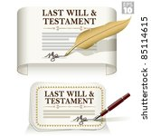 authentic,certified,deed,document,eps10,feather,forms,icons,inheritance,last will,last will and testament,legal,page,pen,planning