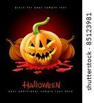 halloween pumpkin jack o... | Shutterstock .eps vector #85123981