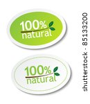 100  natural stickers | Shutterstock .eps vector #85133200