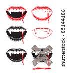 vampire lips   Shutterstock .eps vector #85144186