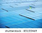 at  solar power plant. engineer ... | Shutterstock . vector #85155469