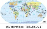 2012 world political map  ... | Shutterstock .eps vector #85156021