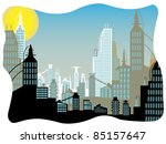 future city daytime abstract... | Shutterstock .eps vector #85157647