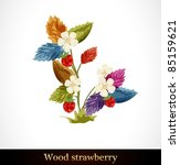 wood strawberry. beautiful... | Shutterstock .eps vector #85159621