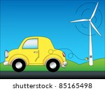 eps 10  eco friendly car... | Shutterstock .eps vector #85165498