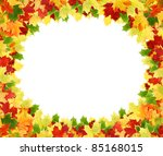 frame with colored autumn maple ... | Shutterstock . vector #85168015