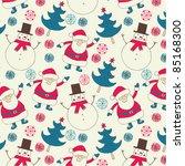 christmas seamless background | Shutterstock .eps vector #85168300