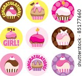 A Group Of Cupcake Circles For...