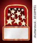 vector stage with stars and...   Shutterstock .eps vector #85189951