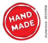 rubber stamp hand made   Shutterstock .eps vector #85193908