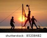 Beach Volleyball Is A Popular...