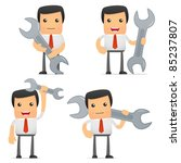 set of funny cartoon manager in ... | Shutterstock .eps vector #85237807