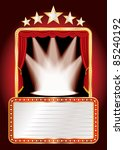 vector stage with five stars...   Shutterstock .eps vector #85240192